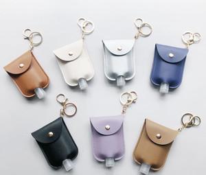 DHL Кожа PU дезинфицирующее средство для рук держатель бутылки с пустой бутылки многоразового Многоразовые наручные Key Chain Hand Soap бутылки держатель для Backpack