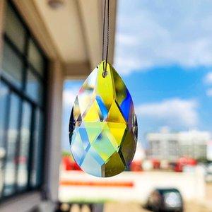 5 pcs 37mm AB cor anjo lágrimas Cristal Prism Candeleiro Cristais Parte SunCatcher Arco-íris Pendurado Casa Decoração Acessórios de Iluminação H Bbyfgf