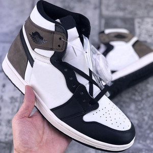 Buona qualità Jumpman Dark Mocha 1 High Black MCocha Lae-up Basket 1s OG Uomo Donne Sport Sneaker Size US5.5-US12