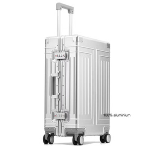 "Carrylove 20""24""26""29"" inch aluminum trolley suitcase waterproof metallic cabin luggage trolly bag with wheels LJ200928"
