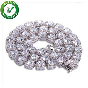 Uomini collana di diamanti Tennis catena ghiacciato fuori il braccialetto Oro Argento di Hip Hop Bling gioielli dal design di lusso fascino Rapper modo del regalo di Natale