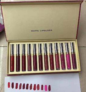 2020 Nuovo Trucco Lip Gloss 12color / Set Maquillage Brand Make Up Set di trucco lucido labbra opaco