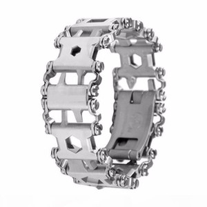 Tread Bracelet Bandle Chain Stainless Steel Outdoor Bolt Driver Tools Screwdriver Emergency Kit Travel Wearable Multitool 2019