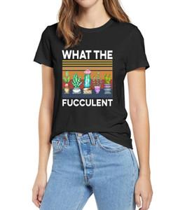 100% Cotton Retro Succulent What The Fucculent T shirt Women White XS - 3XL Men Women Cotton Tshirt Gift soft Top tee