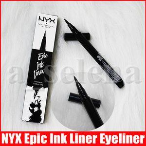 NYX de Epic tinta Liner Negro lápiz delineador de ojos maquillaje Headed Líquido Color Negro Delineador de ojos a prueba de agua cosméticos de larga duración Liner
