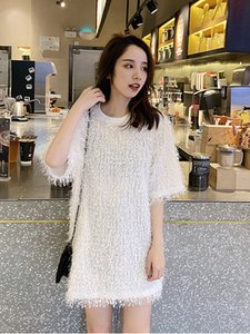 Long Eemale T-shirt Section 2020 New Spring with Wildly Short Sleeve Female Shirt Fashion Free Solid Color Released Tops 5cs0 C367