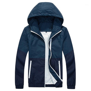 Thin Jacket Men Windbreaker Summer Autumn Fashion Jacket Mens Hooded Casual Jackets Male Coat Couple Outwear Sunscreen Clothes1