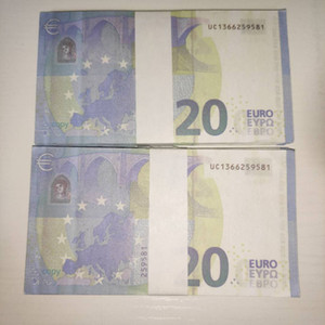2021 Euro Children 20 Banknote Billet Hot Copy Ticket Currency Faux Bar Qxvxo Gift Toy Realistic Prop LE20-18 Props Oungs