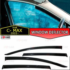 deflector janela para Ford C-Max janela do carro 2003- carro cobertura de guarda deflector de vento de ventilação sol chuva viseira estilo de decoração A3H8 #
