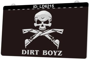 LD6215 Kazıcı Kafatası I Kaçır Hoes Birt Boyz 3D Gravür LED Işık Burcu 9 Renkler Toptan Perakende Ücretsiz Tasarım