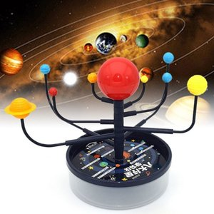Science Planets 1Set Nine Model Solar System Kit DIY Assembly Parent-child Interaction Planetarium Kids Educational Toy