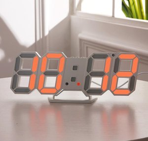 Modern Design 3d Led Wall Clock Modern Digital Alarm Clocks Display Home Living Room Office Table Desk Night sqcbrh new_dhbest