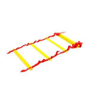 Itstyle 8 렁 12 피트 4m 축구 교육 래더 2mm M 4mm 민첩한 계단 피트니스 피트 속도 에너지 로프 사다리 wmtxLH의 yycolor
