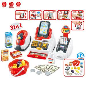 Детский домашний симулятор Simmation Supermarket Scan Swipe Card Multi Function Cashier Shopping Luxury Комбинированный набор