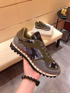 luxurys NEW Fashion Rock Runner Камуфляж кожаные кроссовки обувь для мужчин, женщин Рок Коты Открытый Повседневный CAMUSTARS Тренеры спортивная обувь S ZQtJ