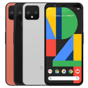 Original Refurbished Google Pixel 4 5.7 inch Octa Core 6GB RAM 64 128GB ROM Android 10 Unlocked 4G LTE Smart Mobile Cell Phone Free DHL 1pcs