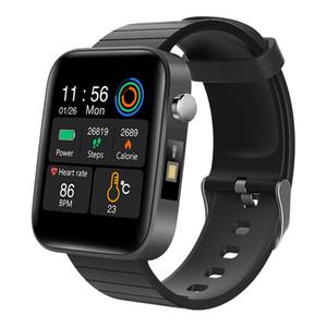 2020 neue Smart-Uhr-Mann-Körper-Temperatur messen Herzfrequenzmesser Blutdruck-Sauerstoff-Armband Call Reminder Smartwatch Bluetooth Anruf