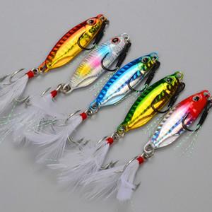 5 adet Japonya Kalite Yavaş Jiging Lures Kurşun Balık 10g / 15g / 20g Jig Kaşık Balıkçılık Wobblers Kıyı Yapay Yemlik Leurre Peche 201030