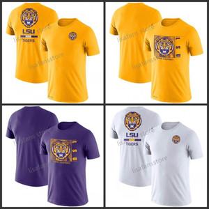 Mens LSU Tigers Team Issue-Leistungs-T-Shirt GFX Geschwindigkeit Sideline Legend Performance Tee Sleeves College-Pullover-T-Shirts