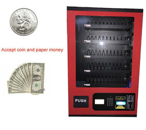 Venda quente papel dinheiro e moeda pequena máquina de auto-serviço de venda automática para venda com vermelho, preto, branco cor diferente