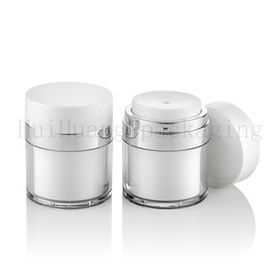 20pcs 50g white empty skin care cream plastic containers,cosmetic jar 50ml bottles for personal