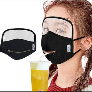 Eye Avaliable Mask DWE667 Zipper Kids Anti Face 5 In Face Mask Ckjoa Drink Mouth Mask Dust Color With Washable Shield Portable Wainh