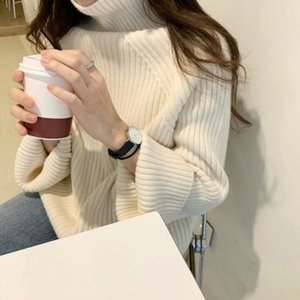 Snordische neue frauen winter verdicken turtkragen lose pullover volle hülse gestrickte pullover casual pumper jacken h1211