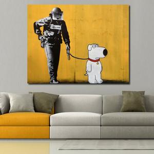 JQHYART Pop Art Decor Decor Poster on the Wall Pictures of Brian Pittura a olio Canvas per soggiorno Nessuna cornice Y200102