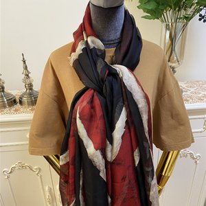 NEW style print letters flag high quality 100% silk Xili yarn material big size 180cm-130cm long scarves for women