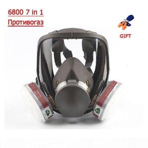 6800 7 in 1 Gasmaske Vollgesichtsmaske für Organische Säuren Gas-Schutz-Abstrich-chemischen Spray Formaldehyd Maske Gas Aktivkohle