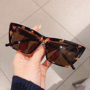New Fashion Cateye Frame Occhiali da sole Donne Classic Quadrato Square Retro Specchio Occhiali da sole Uomini Street Beat Lunette De Soleil Femme (1) Q0121