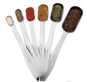 6 Pieces Stainless Steel Measuring Spoons Set Cooking seasoning Coffee Tea Set Measuring Tool Kitchen Tableware Tools 8833