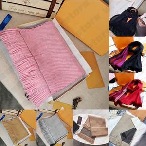 С коробкой подарочной сумкой квитанции Tag Tough Quality Scarf Mens Womens зима люкс шарф мода Wild Pashmina теплая умереть шерсть кашемировые шарфы