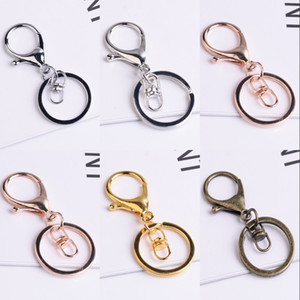 30 мм кольцо для ключей длинные 70 мм популярные классические 6 цветов покрывают лобстер застежкой ключа крючок цепочки ювелирных изделий для брелок 310 N2