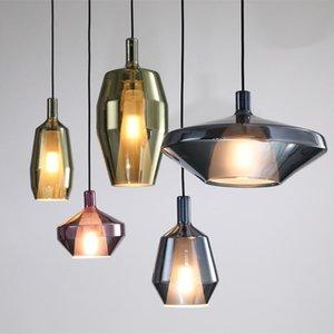 Nordic Creative LED Glass Bar Loft Chandeliers Modern Chandelier Lighting Bedroom Light Luxury Ceiling Chandelier Light