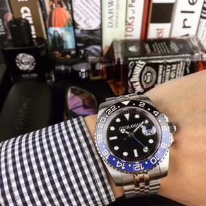Мужское автоматическое механические часы движения Делюкса Черных Синий керамический Сапфир Циферблат Jubilee браслет Часы Relojes де Lujo пункт Hombre