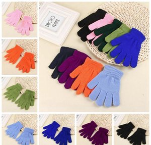 Solid Color Winter Gloves Knitted Warm Full Finger Mittens Children Candy Color Gloves Cute Student Glove 9 Colors 2 jllHNV bdedome