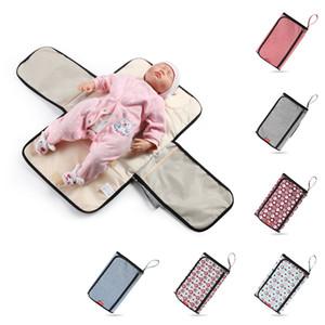 Waterproof Diaper Changing Mat Travel Multifunction Portable Baby Diaper Cover Pad Clean Hand Folding Diaper Bag Soft Flexible T