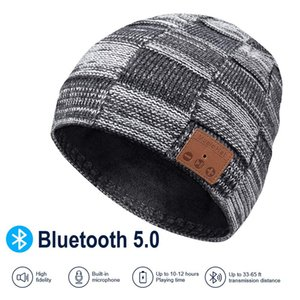 Wireless Beanie Hats Knit Cap Bluetooth Hat Winter Knit Hat Musical Knit Headphones Cap Music Hat for Gifts Free DHL