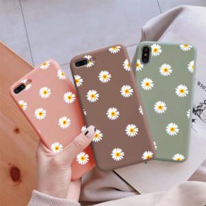 TPU Chrysanthemum Kapak için Huawei P30 P20 Lite Pro P40 Mate 10 20 30 Lite P Akıllı 2019 Onur 9A 9 S 8X 9X 9 10 20 10i 20i Durumda