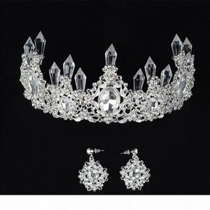 Mariée bijoux bijoux baroque fait à la main perlée de luxe or cristal diaras sucent princesse couronne mariage cheveux accessoires en gros