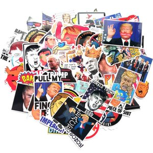 New Trump Stickers 55pcs Trump 2020 Election American Flag PVC Decal Waterproof Graffiti Stickers For US President 5-8cm HH9-3345