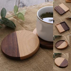 Коврики простые прочные прочные термостойкие квадратные круглые напитки коврик чаша чайник чашка чашки чашки салфетки декор ореховые водоросли