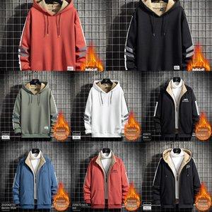 EJNV Homme costume Sweat à capuche Pull Sweatch Couleur Contraste Contraste Capuchon Lian Cap de Velvet Sweater Designer