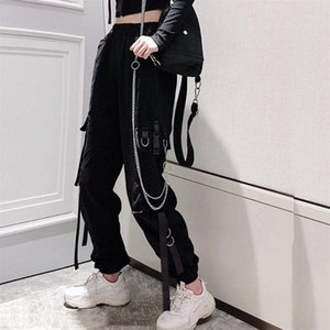 Women Elastic Waist Loose Streetwear Cargo Pants Female Fashion Ankle-length Jogging Sport Trousers Ladies Plus Szie Casual Pant1