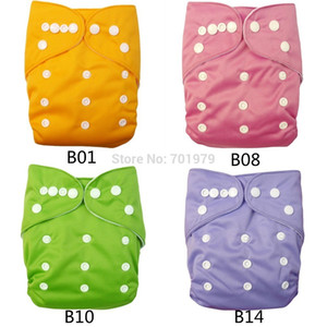 (15 pieces lot) ALVABABY Solid Color with Cloth Diapers Baby with Microfiber Inserts 201020