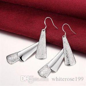 Großhandel -Tiefste Preis Weihnachtsgeschenk 925 Sterlingsilber-Art und Weise Ohrringe E015