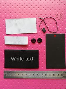 Etiquette tissée de fil d'argent, étiquette de luxe de luxe, étiquette d'aiguille de vêtements pour vêtements Tags Couture Couture Couture NotionMbroiderie Patch