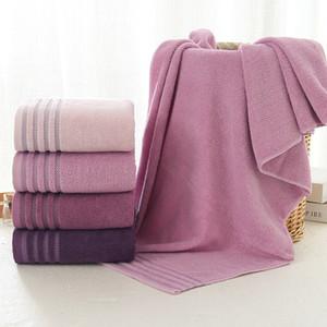 New Streifen Baumwolltuch Badetuch von drei Sets Solid Color verdicken Badezimmer Handtücher Set weiche bequeme Unisex Toalhas 140x70