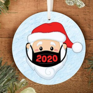 4 renk Noel Süsler Süsleri Yuvarlak Kare Shape süslemeler Boş Sarf Noel ağacı kolye EWF2512 baskı transfer